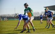 25 February 2018; Ciarán Comerford of Laois in action against Ben Conneely of Offaly during the Allianz Hurling League Division 1B Round 4 match between Offaly and Laois at Bord Na Móna O'Connor Park in Offaly. Photo by Sam Barnes/Sportsfile
