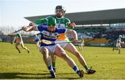 25 February 2018; Ross King of Laois in action against Ben Conneely of Offaly during the Allianz Hurling League Division 1B Round 4 match between Offaly and Laois at Bord Na Móna O'Connor Park in Offaly. Photo by Sam Barnes/Sportsfile