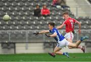 25 February 2018; Sean White of Cork in action against Dara McVeety of Cavan during the Allianz Football League Division 2 Round 4 match between Cork and Cavan at Páirc Uí Chaoimh in Cork. Photo by Eóin Noonan/Sportsfile