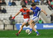 25 February 2018; Conor Moynagh of Cavan in action against Tomas Clancy of Cork during the Allianz Football League Division 2 Round 4 match between Cork and Cavan at Páirc Uí Chaoimh in Cork. Photo by Eóin Noonan/Sportsfile