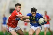 25 February 2018; Caoimhin O'Reilly of Cavan in action against Kevin Flahive of Cork during the Allianz Football League Division 2 Round 4 match between Cork and Cavan at Páirc Uí Chaoimh in Cork. Photo by Eóin Noonan/Sportsfile
