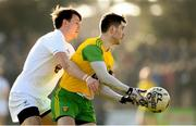 25 February 2018; Ryan McHugh of Donegal in action against Cian O'Donoghue of Kildare during the Allianz Football League Division 1 Round 4 match between Donegal and Kildare at Fr Tierney Park in Ballyshannon, Co Donegal. Photo by Stephen McCarthy/Sportsfile
