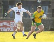 25 February 2018; Patrick McBrearty of Donegal in action against David Hyland of Kildare during the Allianz Football League Division 1 Round 4 match between Donegal and Kildare at Fr Tierney Park in Ballyshannon, Co Donegal. Photo by Stephen McCarthy/Sportsfile