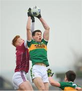 25 February 2018; Jack Barry of Kerry in action against Peter Cooke of Galway during the Allianz Football League Division 1 Round 4 match between Kerry and Galway at Austin Stack Park in Kerry. Photo by Diarmuid Greene/Sportsfile