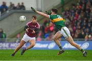 25 February 2018; Paul Conroy of Galway in action against Jack Barry of Kerry during the Allianz Football League Division 1 Round 4 match between Kerry and Galway at Austin Stack Park in Kerry. Photo by Diarmuid Greene/Sportsfile