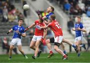 25 February 2018; Adrian Cole of Cavan in action against Ruairi Deane of Cork during the Allianz Football League Division 2 Round 4 match between Cork and Cavan at Páirc Uí Chaoimh in Cork. Photo by Eóin Noonan/Sportsfile