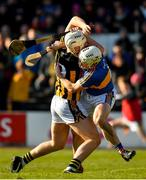25 February 2018; Liam Blanchfield of Kilkenny is fouled by Sean O'Brien of Tipperary resulting in a penalty for Kilkenny during the Allianz Hurling League Division 1A Round 4 match between Kilkenny and Tipperary at Nowlan Park in Kilkenny. Photo by Brendan Moran/Sportsfile