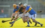 25 February 2018; Donagh Maher, left, and Patrick Maher of Tipperary compete for possession with Conor O'Shea of Kilkenny during the Allianz Hurling League Division 1A Round 4 match between Kilkenny and Tipperary at Nowlan Park in Kilkenny. Photo by Brendan Moran/Sportsfile