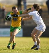 25 February 2018; Neil McGee of Donegal in action against Chris Healy of Kildare during the Allianz Football League Division 1 Round 4 match between Donegal and Kildare at Fr Tierney Park in Ballyshannon, Co Donegal. Photo by Stephen McCarthy/Sportsfile