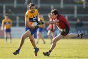 25 February 2018; Gary Brennan of Clare in action against Niall Donnelly of Down during the Allianz Football League Division 2 Round 4 match between Down and Clare at Páirc Esler, Newry, in Down. Photo by Oliver McVeigh/Sportsfile