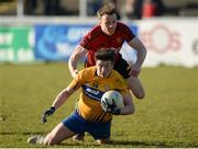 25 February 2018; Keelan Sexton of Clare in action against Brendan McArdle of Down during the Allianz Football League Division 2 Round 4 match between Down and Clare at Páirc Esler, Newry, in Down. Photo by Oliver McVeigh/Sportsfile
