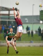 25 February 2018; Damien Comer of Galway in action against Peter Crowley of Kerry during the Allianz Football League Division 1 Round 4 match between Kerry and Galway at Austin Stack Park in Kerry. Photo by Diarmuid Greene/Sportsfile