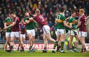 25 February 2018; Sean Andy Ó Ceallaigh of Galway reacts towards Paul Geaney of Kerry after he was shown a black card by referee Fergal Kelly during the Allianz Football League Division 1 Round 4 match between Kerry and Galway at Austin Stack Park in Kerry. Photo by Diarmuid Greene/Sportsfile