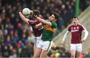 25 February 2018; Paul Geaney of Kerry in action against Eoghan Kerin of Galway during the Allianz Football League Division 1 Round 4 match between Kerry and Galway at Austin Stack Park in Kerry. Photo by Diarmuid Greene/Sportsfile