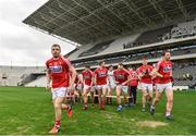25 February 2018; Cork players break away after the team picture the Allianz Football League Division 2 Round 4 match between Cork and Cavan at Páirc Uí Chaoimh in Cork. Photo by Eóin Noonan/Sportsfile