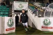 26 February 2018; Aaron Bolger of Shamrock Rovers makes his way out to the pitch ahead of the SSE Airtricity League Premier Division match between Shamrock Rovers and Bray Wanderers at Tallaght Stadium in Dublin. Photo by Eóin Noonan/Sportsfile