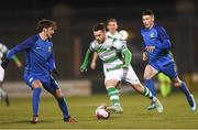 26 February 2018; Brandon Miele of Shamrock Rovers in action against Daniel McKenna of Bray Wanderers during the SSE Airtricity League Premier Division match between Shamrock Rovers and Bray Wanderers at Tallaght Stadium in Dublin. Photo by Eóin Noonan/Sportsfile