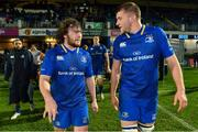 23 February 2018; Adam Coyle, left, and Ross Molony of Leinster after the Guinness PRO14 Round 16 match between Leinster and Southern Kings at the RDS Arena in Dublin. Photo by Brendan Moran/Sportsfile