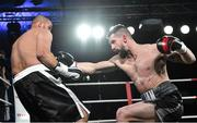 3 March 2018; Cillian Reardon, right, in action against Richard Hegyi during their middleweight bout at the National Stadium in Dublin. Photo by Ramsey Cardy/Sportsfile