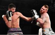 3 March 2018; Chris Blaney, right, in action against Jack Cullen during their semi-final bout in the Last Man Standing Boxing Tournament at the National Stadium in Dublin. Photo by Ramsey Cardy/Sportsfile