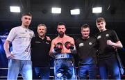 3 March 2018; Cillian Reardon after defeating Richard Hegyi in their middleweight bout at the National Stadium in Dublin. Photo by Ramsey Cardy/Sportsfile