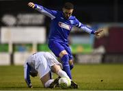 6 March 2018: Adam Zayed of Dublin IT in action against Ryan Gaffey of Athlone IT during the RUSTLERS CFAI Perpetual Cup Final match between Athlone IT and Dublin IT, at Eamon Deacy Park in Galway. Photo by Seb Daly/Sportsfile