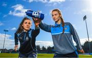 7 March 2018; Ballygowan and Energise Sport today announced the renewal of their partnership with Dublin GAA as the official hydration partners. Dublin camogie player Hannah Hegarty, left, and Dublin ladies footballer Lauren Magee at the announcement in Parnell Park, Dublin. Photo by Stephen McCarthy/Sportsfile