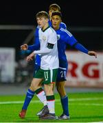 6 March 2018: Louie Barry of Republic of Ireland during the Under 15 International Friendly match between Republic of Ireland and Cyprus at Oriel Park in Dundalk, Co Louth. Photo by Oliver McVeigh/Sportsfile