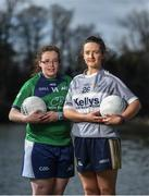 7 March 2018; In attendance at the Gourmet Food Parlour HEC O'Connor Cup Colleges Finals Captains Day are, Kelly Cunningham of AIT, left, and Niamh McBride of Ulster University with the Lagan Cup at the Gourmet Food Parlour in Northwood, Santry, Dublin. Photo by David Fitzgerald/Sportsfile
