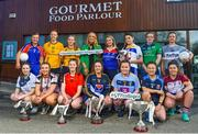 7 March 2018; In attendance at the Gourmet Food Parlour HEC O'Connor Cup Colleges Finals Captains Day are, back row, from left, Caroline Hickey of Mary Immaculate College, Aishling Moloney of DCU, Hannah McSkeane of DCU, Lorraine O'Sullivan, Managing Director of Gourmet Food Parlour, Aine Byrne of Waterford Institute of Technology, Emer Heaney of DIT, Kelly Cunningham of AIT, Niamh McBride of UU, and front row, from left, Rosie Courtney of AIT, Sheila Brady of Sligo Uni, Eva Gilmore of RCSI, Lauren McCaul of DKIT, Nicola Ward of UCD, Trina Duggan of Garda College and Laurie Ryan of UL at the Gourmet Food Parlour in Northwood, Santry, Dublin. Photo by David Fitzgerald/Sportsfile