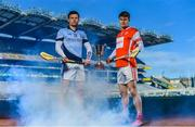 7 March 2018; Kevin Downes of Na Piarsaigh, left, and Cian O'Callaghan of Cuala are pictured ahead of the AIB GAA All-Ireland Senior Hurling Club Championship Final taking place at Croke Park on Saturday, 17th of March. For exclusive content and behind the scenes action throughout the AIB GAA & Camogie Club Championships follow AIB GAA on Facebook, Twitter, Instagram and Snapchat and www.aib.ie/gaa. Photo by Sam Barnes/Sportsfile