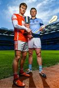 7 March 2018; Cian O'Callaghan of Cuala, left, and Kevin Downes of Na Piarsaigh are pictured ahead of the AIB GAA All-Ireland Senior Hurling Club Championship Final taking place at Croke Park on Saturday, 17th of March. For exclusive content and behind the scenes action throughout the AIB GAA & Camogie Club Championships follow AIB GAA on Facebook, Twitter, Instagram and Snapchat and www.aib.ie/gaa. Photo by Sam Barnes/Sportsfile
