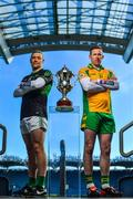 7 March 2018; Paddy Gumley of Nemo Rangers, left, and Gary Sice of Corofin are pictured ahead of the AIB GAA All-Ireland Senior Football Club Championship Final taking place at Croke Park on Saturday, 17th of March. For exclusive content and behind the scenes action throughout the AIB GAA & Camogie Club Championships follow AIB GAA on Facebook, Twitter, Instagram and Snapchat and www.aib.ie/gaa.       Photo by Sam Barnes/Sportsfile