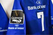 9 March 2018; A detailed view of the jersey of Sean O'Brien of Leinster prior to the Guinness PRO14 Round 17 match between Scarlets and Leinster at Parc Y Scarlets in Llanelli, Wales. Photo by Ramsey Cardy/Sportsfile