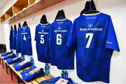 9 March 2018; A general view of the jersey, 7, of Sean O'Brien of Leinster prior to the Guinness PRO14 Round 17 match between Scarlets and Leinster at Parc Y Scarlets in Llanelli, Wales. Photo by Ramsey Cardy/Sportsfile