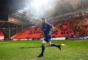 9 March 2018; Leinster captain Sean O'Brien runs out ahead of the Guinness PRO14 Round 17 match between Scarlets and Leinster at Parc Y Scarlets in Llanelli, Wales. Photo by Ramsey Cardy/Sportsfile
