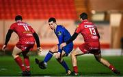 9 March 2018; Noel Reid of Leinster in action against Ryan Conbeer, left, and Paul Asquith of Scarlets during the Guinness PRO14 Round 17 match between Scarlets and Leinster at Parc Y Scarlets in Llanelli, Wales. Photo by Ramsey Cardy/Sportsfile