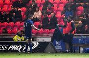9 March 2018; Seán O'Brien of Leinster leaves the pitch with an injury during the first half of the Guinness PRO14 Round 17 match between Scarlets and Leinster at Parc Y Scarlets in Llanelli, Wales. Photo by Ramsey Cardy/Sportsfile