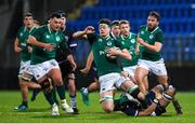 9 March 2018; Jack Dunne of Ireland is tackled by Connor Boyle of Scotland during the U20 Six Nations Rugby Championship match between Ireland and Scotland at Donnybrook Stadium in Dublin. Photo by David Fitzgerald/Sportsfile