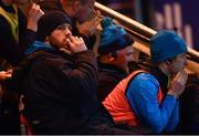 9 March 2018; Seán O'Brien of Leinster watches the final moments of the game from the bench after picking up a first half injury during the Guinness PRO14 Round 17 match between Scarlets and Leinster at Parc Y Scarlets in Llanelli, Wales. Photo by Ramsey Cardy/Sportsfile