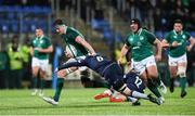 9 March 2018; Jack Dunne of Ireland is tackled by Martin Hughes of Scotland during the U20 Six Nations Rugby Championship match between Ireland and Scotland at Donnybrook Stadium in Dublin. Photo by David Fitzgerald/Sportsfile