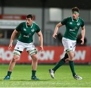 9 March 2018; Matthew Dalton, left, and Jack Dunne of Ireland during the U20 Six Nations Rugby Championship match between Ireland and Scotland at Donnybrook Stadium in Dublin. Photo by David Fitzgerald/Sportsfile