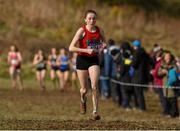 10 March 2018; Sarah Healy of Holy Child Killiney, Co Dublin, on her way to winning the senior girls 2500m during the Irish Life Health All Ireland Schools Cross Country at Waterford IT in Waterford. Photo by Matt Browne/Sportsfile
