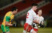 10 March 2018; Michael McKernan of Tyrone in action against Frank McGlynn of Donegal during the Allianz Football League Division 1 Round 5 match between Tyrone and Donegal at Healy Park in Omagh, Co Tyrone. Photo by Oliver McVeigh/Sportsfile