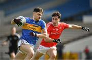 11 March 2018; Michael Quinlivan of Tipperary in action against Derek Maguire of Louth during the Allianz Football League Division 2 Round 5 match between Tipperary and Louth at Semple Stadium in Thurles, Co Tipperary. Photo by Sam Barnes/Sportsfile