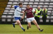 11 March 2018; Damien Comer of Galway in action against Conor Boyle of Monaghan during the Allianz Football League Division 1 Round 5 match between Galway and Monaghan at Pearse Stadium in Galway. Photo by Diarmuid Greene/Sportsfile