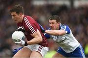 11 March 2018; Shane Walsh of Galway in action against Ryan Wylie of Monaghan during the Allianz Football League Division 1 Round 5 match between Galway and Monaghan at Pearse Stadium in Galway. Photo by Diarmuid Greene/Sportsfile