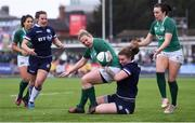 11 March 2018; Niamh Briggs of Ireland is tackled by Siobhan McMillan of Scotland during the Women's Six Nations Rugby Championship match between Ireland and Scotland at Donnybrook Stadium in Dublin. Photo by David Fitzgerald/Sportsfile