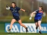 11 March 2018; Michelle Farrell of DCU in action against Chloe Fennell of WIT during the Gourmet Food Parlour HEC Giles Cup Final match between DCU and WIT at the GAA National Games Development Centre in Abbotstown, Dublin. Photo by Eóin Noonan/Sportsfile
