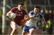 11 March 2018; Damien Comer of Galway in action against Dessie Ward of Monaghan during the Allianz Football League Division 1 Round 5 match between Galway and Monaghan at Pearse Stadium in Galway. Photo by Diarmuid Greene/Sportsfile
